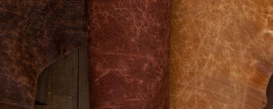 Antique Buffalo Leather Sides